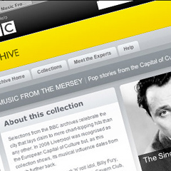 BBC Archive webpage screenshot