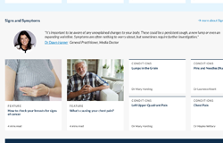 example of the Patient homepage